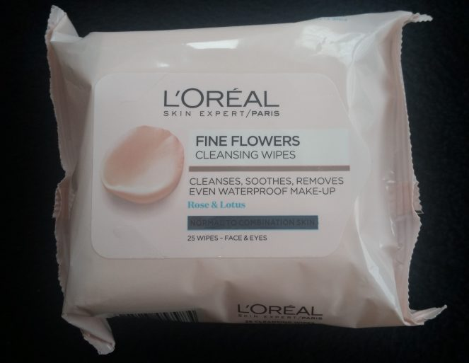 loreal fine flowers cleansing wipes review