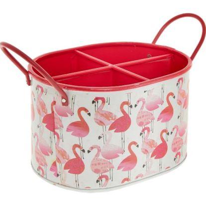 flamingo makeup storage