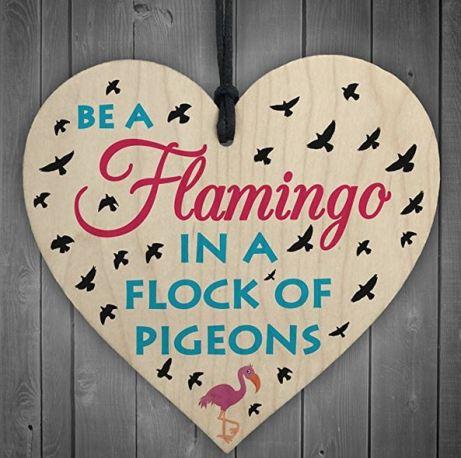 motivational flamingo sign